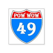 """Powwow 49 Square Sticker 3"""" X 3"""""""