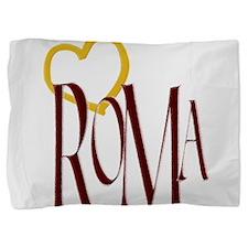 ROMA,HEART Pillow Sham