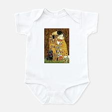 The Kiss / Black Pug Infant Bodysuit