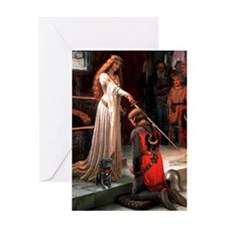 The Accolade / Black Pug Greeting Card
