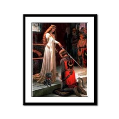 The Accolade / Black Pug Framed Panel Print