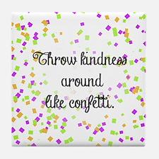 Confetti kindness Tile Coaster