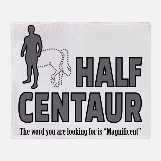 Half Centaur Throw Blanket