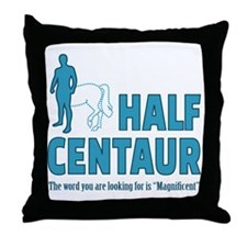 Half Centaur Throw Pillow
