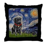 Pug lovers Throw Pillows