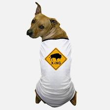 Bison X-ing Dog T-Shirt