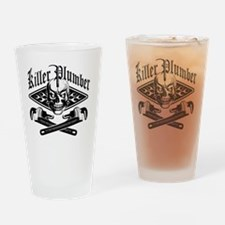 Plumber Skull 3.1 Drinking Glass