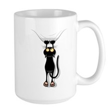 hanging cat 2 Mugs