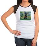Bridge / Black Pug Women's Cap Sleeve T-Shirt
