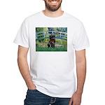 Bridge / Black Pug White T-Shirt