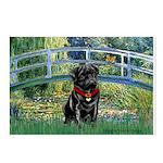Bridge / Black Pug Postcards (Package of 8)