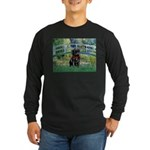 Bridge / Black Pug Long Sleeve Dark T-Shirt