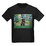 Bridge / Black Pug Kids Dark T-Shirt