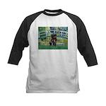 Bridge / Black Pug Kids Baseball Jersey