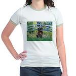 Bridge / Black Pug Jr. Ringer T-Shirt