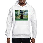 Bridge / Black Pug Hooded Sweatshirt