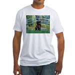Bridge / Black Pug Fitted T-Shirt