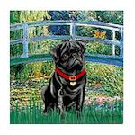 Bridge / Black Pug Tile Coaster