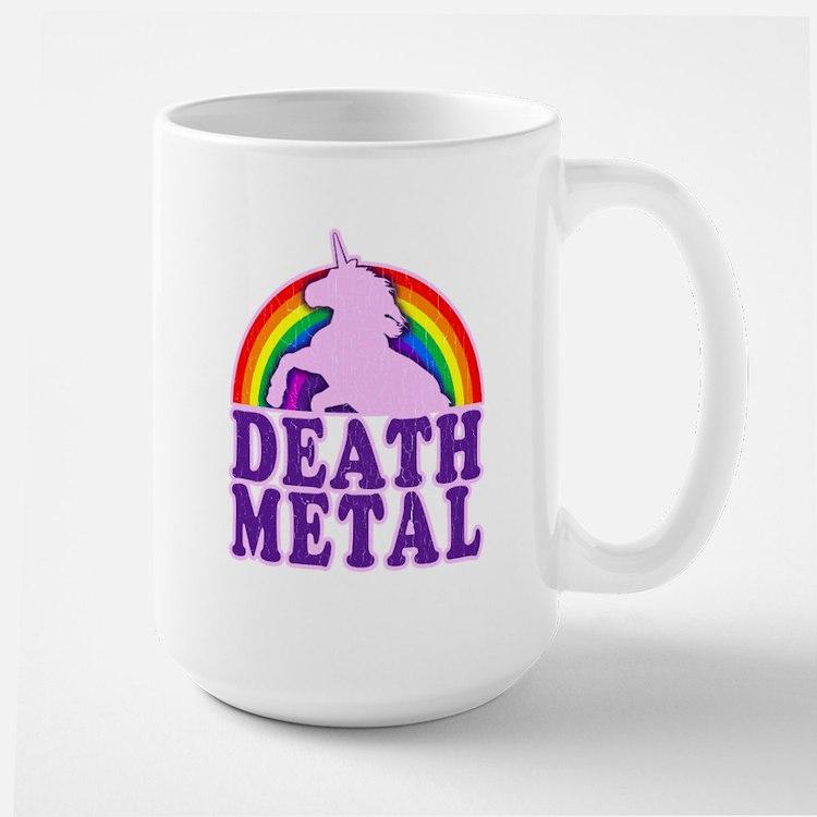 Funny Death Metal Rainbow Unicorn (vintage distres