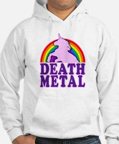Funny Death Metal Rainbow Unicorn (vintage distres