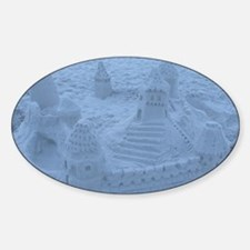 Castles in the Sand Sticker (Oval)