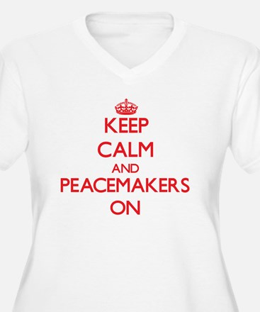 Keep Calm and Peacemakers ON Plus Size T-Shirt