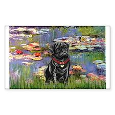 Lilies (#2) & Black Pug Decal