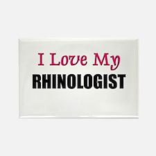 I Love My RHINOLOGIST Rectangle Magnet