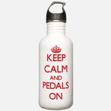 Keep Calm and Pedals O Water Bottle
