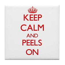 Keep Calm and Peels ON Tile Coaster