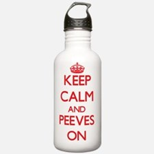 Keep Calm and Peeves O Water Bottle
