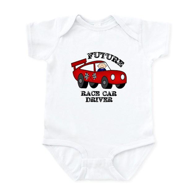 Future Race Car Driver Cute Baby Boy Bodysuit Infant