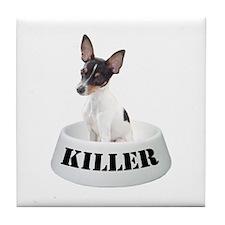Killer Toy Fox Terrier Tile Coaster