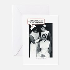Nurse Blabbermouth Cure Greeting Cards (Pk of 10)
