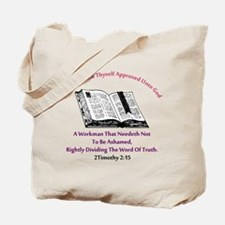2timothy 2:15 Tote Bag