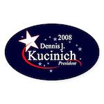 DENNIS KUCINICH PRESIDENT 2008 Oval Sticker