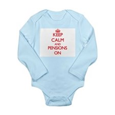 Keep Calm and Pensions ON Body Suit