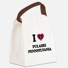 I love Pulaski Pennsylvania Canvas Lunch Bag