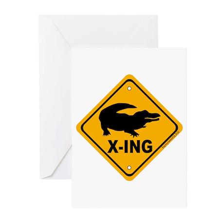 Gator X-ing Greeting Cards (Pk of 20)