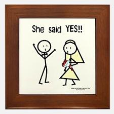 She Said Yes! Framed Tile