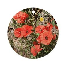 Poppies Round Ornament