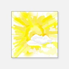 "Weather forecast  Square Sticker 3"" x 3"""
