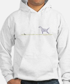 Blue English Setter on Chukar Hoodie