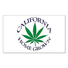 California Home Grown Rectangle Decal