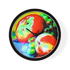 Apples And Grapes Wall Clock