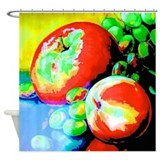 Apples and grapes shower curtain Shower Curtains