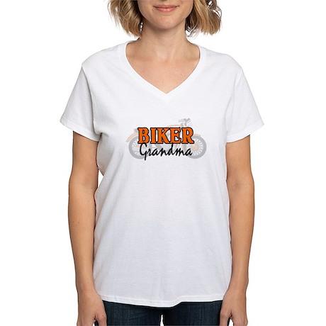 BIKER GRANDMA Women's V-Neck T-Shirt