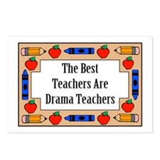 The Best Teachers Are Drama Teachers Postcards (Pa