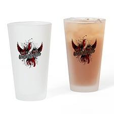 Head Neck Cancer Awareness 16 Drinking Glass