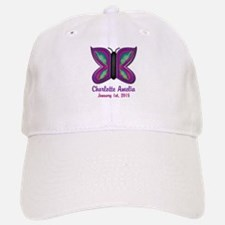 CUSTOM Butterfly Baby Name and Birthdate Baseball